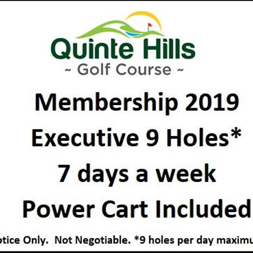 Executive 9 Holes Anyday: Cart Included