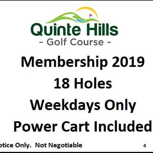 18 Holes Weekday: Cart Included