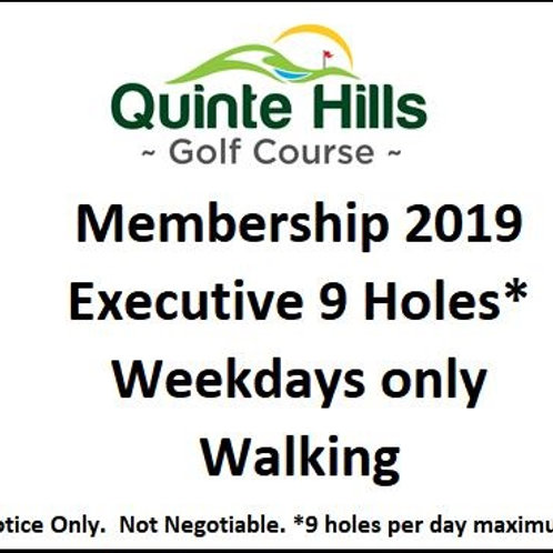 Executive 9 Holes Weekday: No Cart