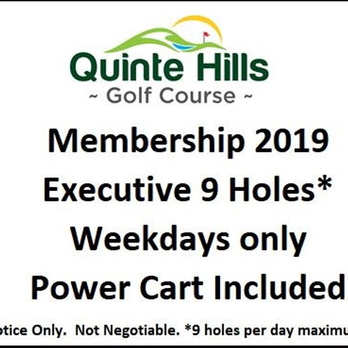 Executive 9 Holes Weekday: Cart Included