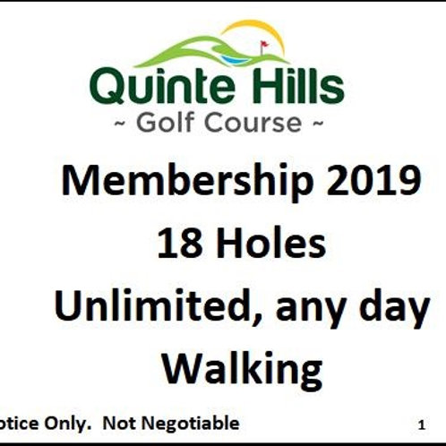 18 Holes Anyday: Walking