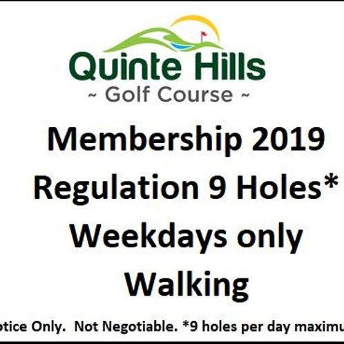 9 Holes Weekday: Walking