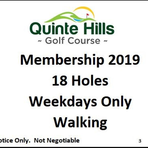 18 Holes Weekday: Walking