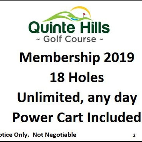 18 Holes Anyday: Cart Included