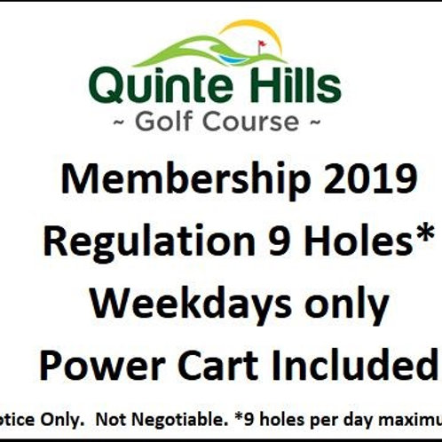 9 Holes Weekday: Cart Included