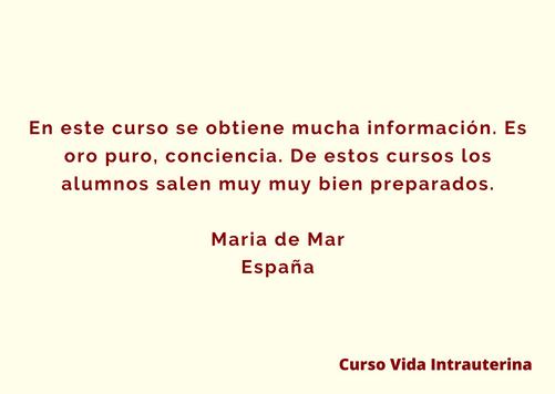 Testimonio María del Mar