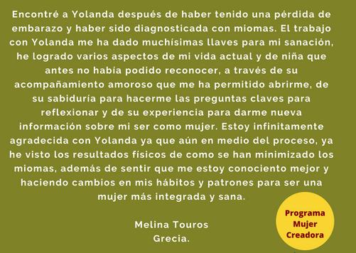 Testimonio Melina