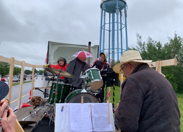 Fort Sask Community Band on Rainy Canada Day
