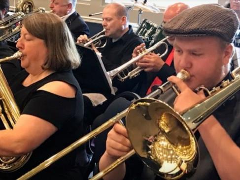 Fort Sask Community Band Members Kara Watson and Gage Marr