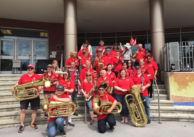 Fort Sask Community Band onCanada Day