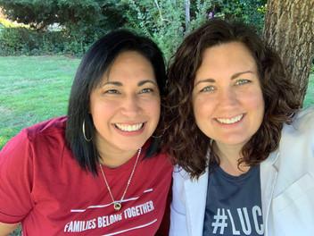 Pastors Liz Vaiz and Brandy Liebscher rocking their Escúchanos t-shirts. September 16 2019