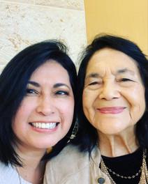 Pastor Liz Vaiz with civil rights leader Dolores Huerta.