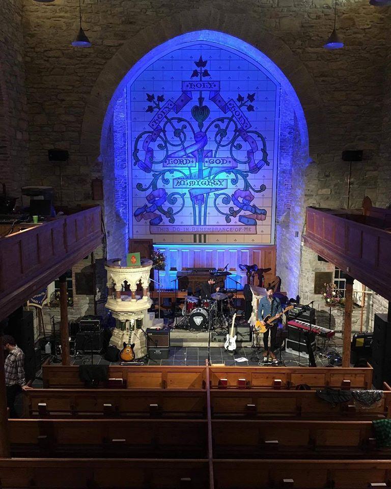 Sound Check earlier for tonight's Brian Deady gig in Sligo. @ Drumcliff, Sligo, Ireland