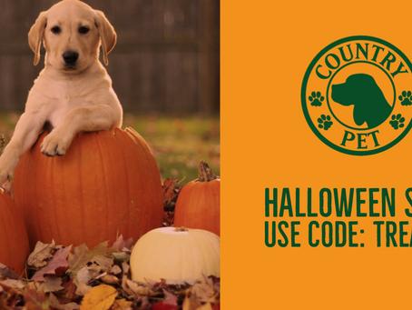 No Tricks, Only Treats! Country Pet Hallowe'en Sale