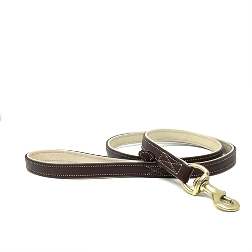 Country Pet Tan & Cream Luxury Leather Dog Lead