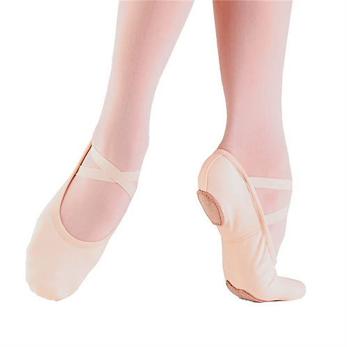 STRETCH CANVAS SPLIT SOLE BALLET SHOE