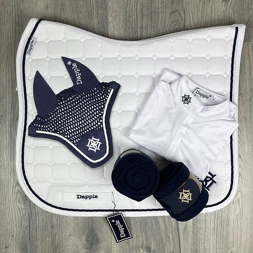 Dressage White & Navy Bundle