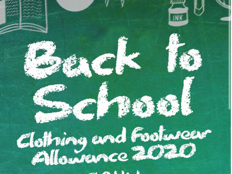 Back to School Footwear and clothing allowance
