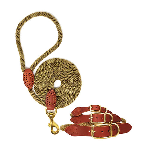 Luxury Rope Collar & Lead Set