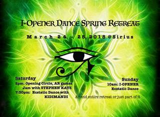 I-Opener Dance Spring Retreat March 24-25 at Sirius