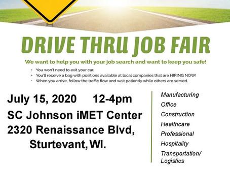 Drive Thru Job Fair 7/15/2020