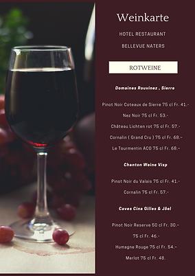 © Rotweinkarte Hotel Restaurant Bellevue