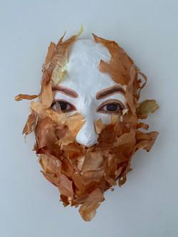 Self Portrait with Onion Skin (Layered I