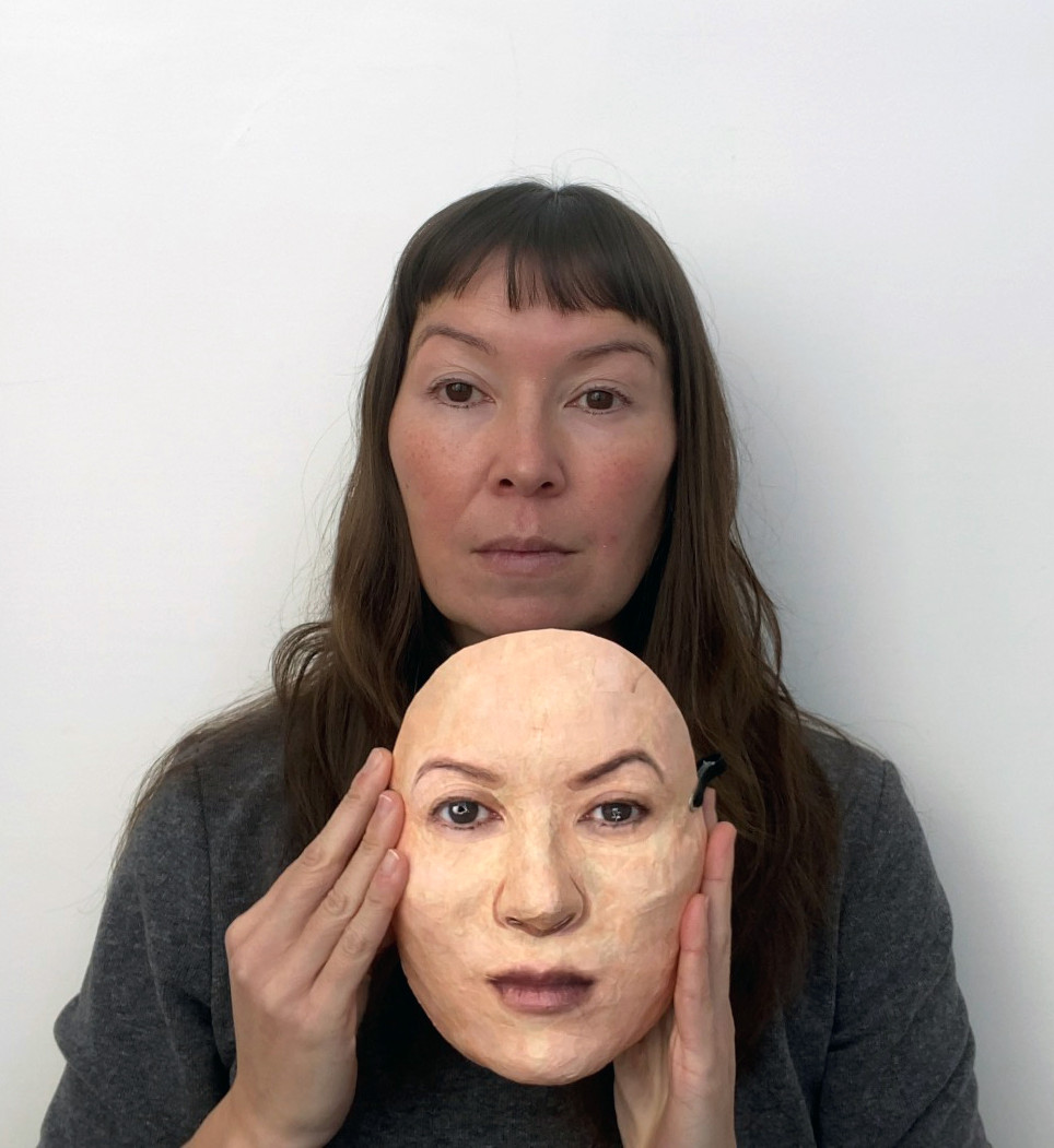 Self Portrait with Uncanny Valley mask #