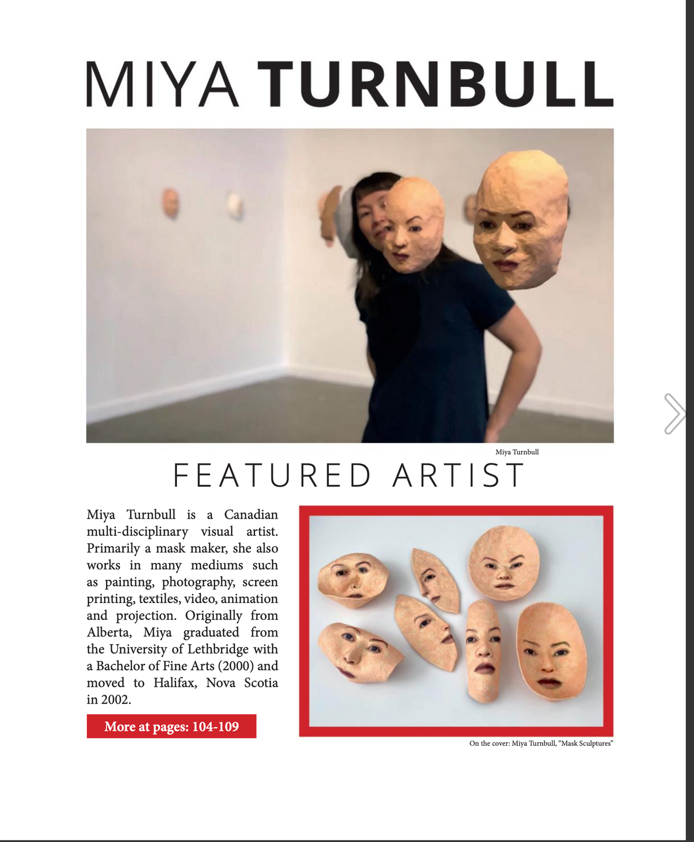 Art Reveal Magazine, Issue #59, page 3.p