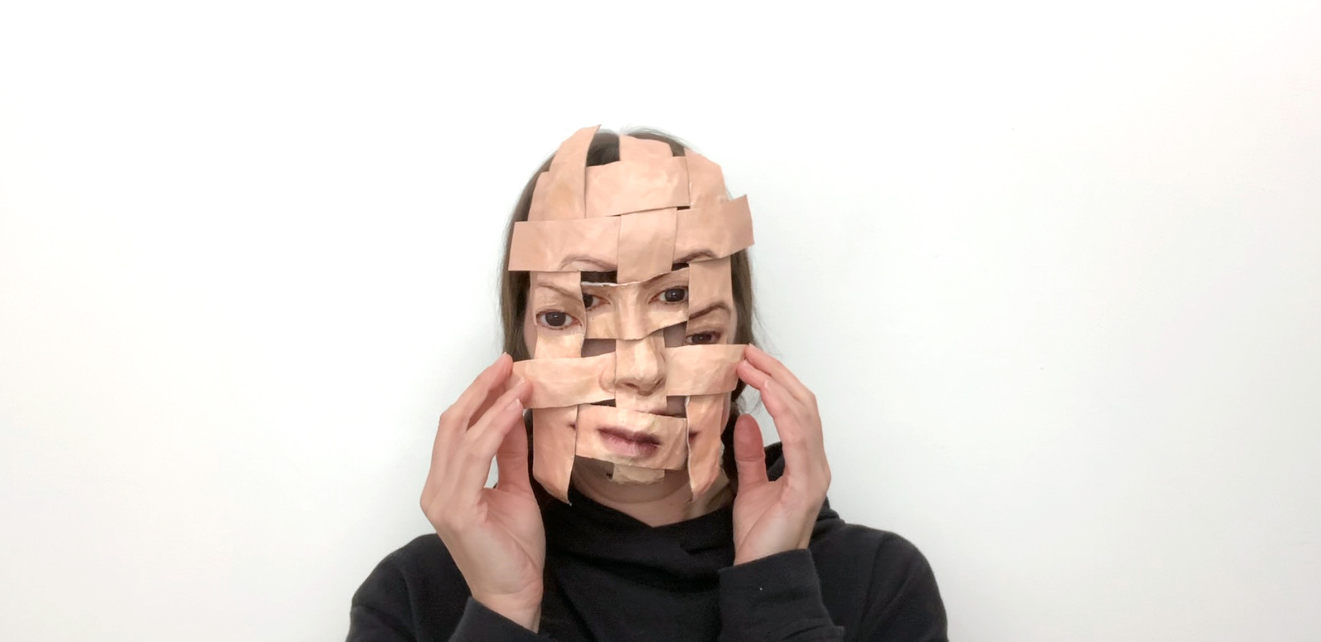 Self Portrait (Woven Temporary Mask #1).