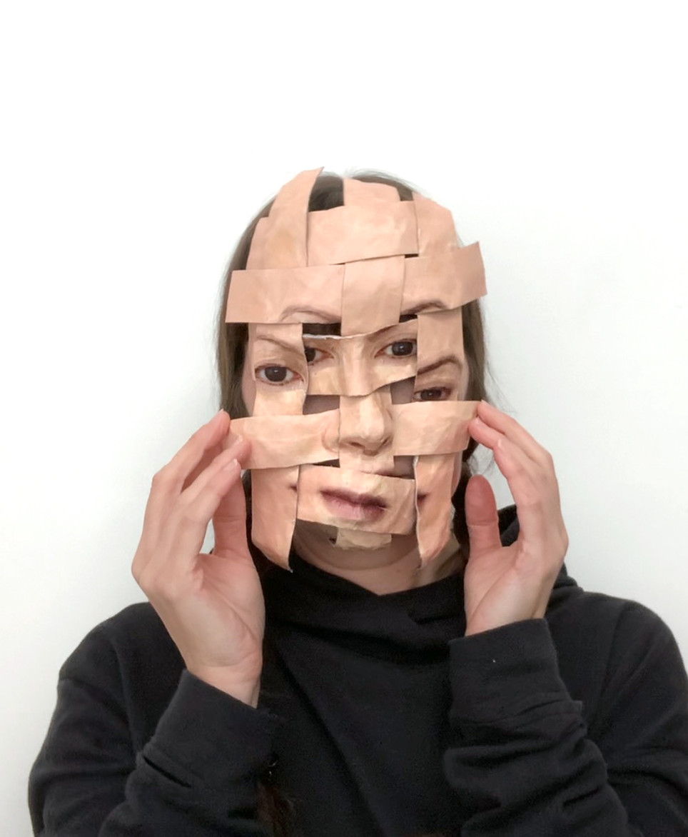 Self Portrait (Woven Temporary Mask #1).