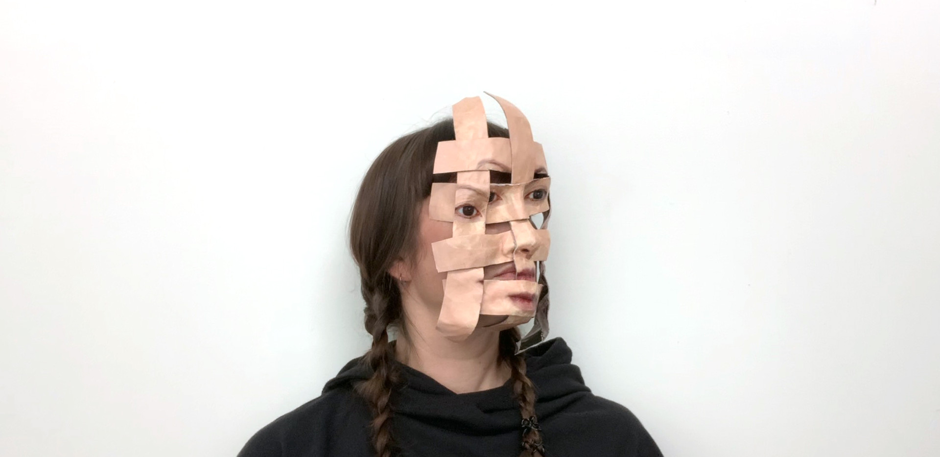 Self Portrait (Woven Temporary Mask #1)-