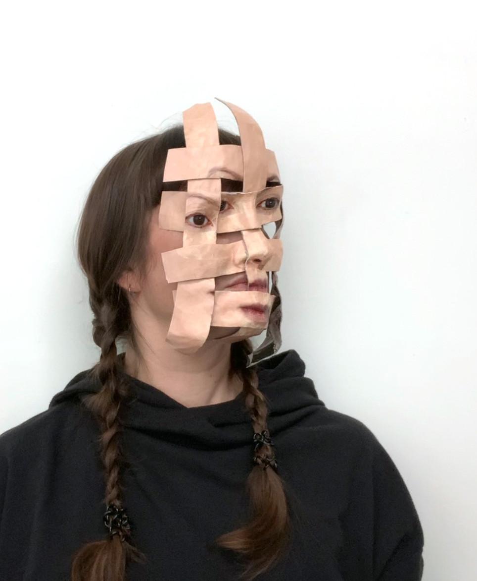 Self Portrait (Woven Temporary Mask #1)-