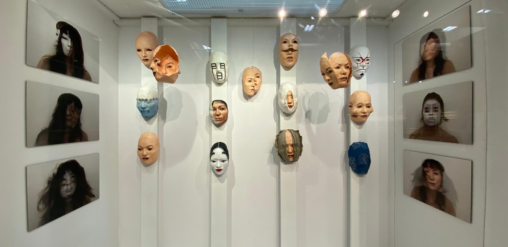 Masks and Photos at the Craig Gallery.jp