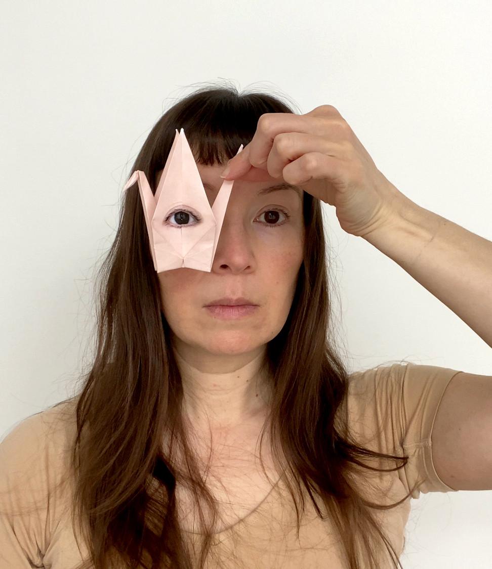 Self Portrait with Origami Crane #2.jpeg
