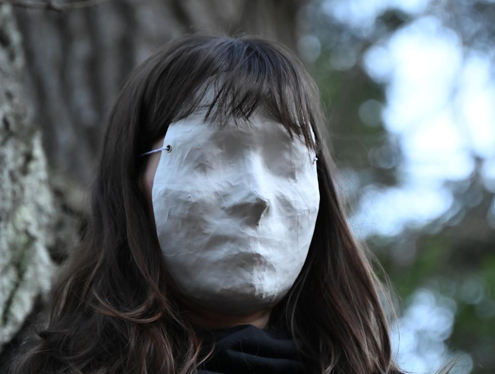 Miya with White Mask, taken by Jake Damb
