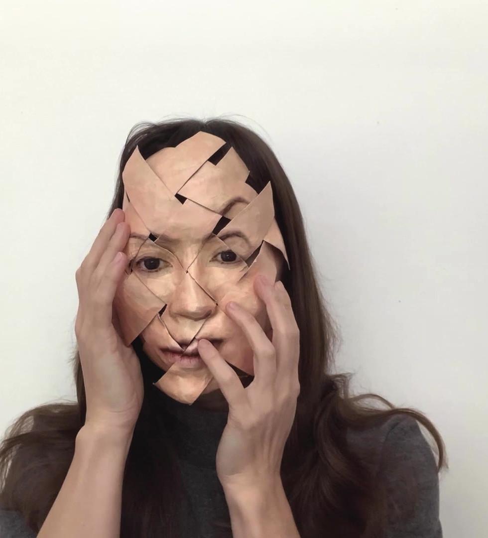 Miya Turnbull Woven Mask -variation #2.m