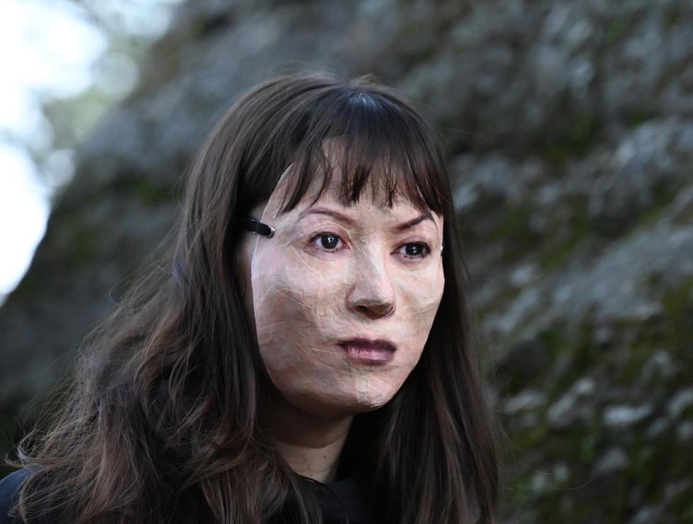 Miya with Mask, photo by Jake Dambergs.j