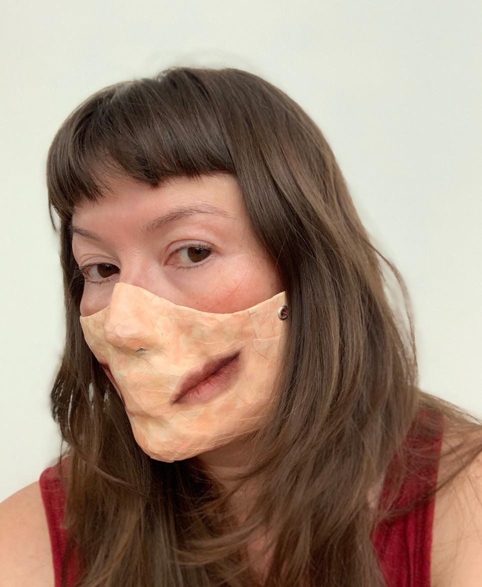 Self Portrait (Covid Mask- double lips).