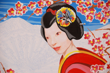Self Portrait as Paint by Number Geisha.