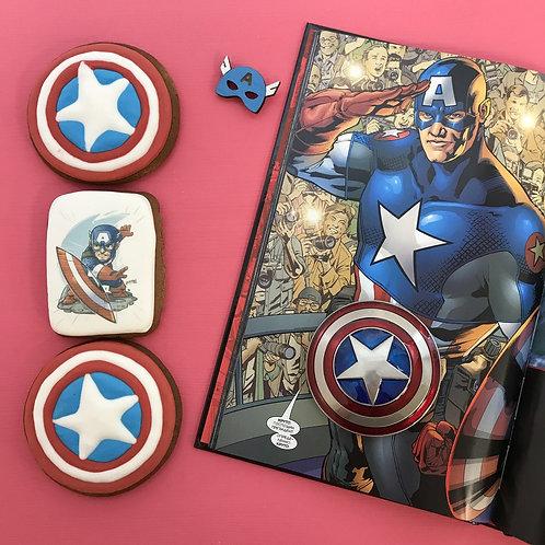 Капитан Америка (3 пряника в коробочке)