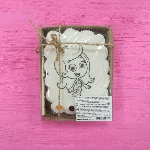 Раскраска Девочка с распущенными волосами