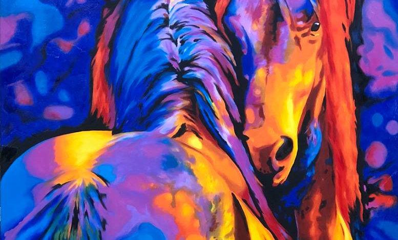 COSMIC HORSES GICLEE 24 X 30
