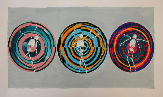 McKenna Anderl, Circles, Acrylic paint and ink