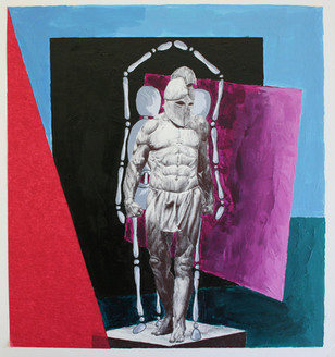McKenna Anderl, Shadow Person, ink, acrylic, tissue paper