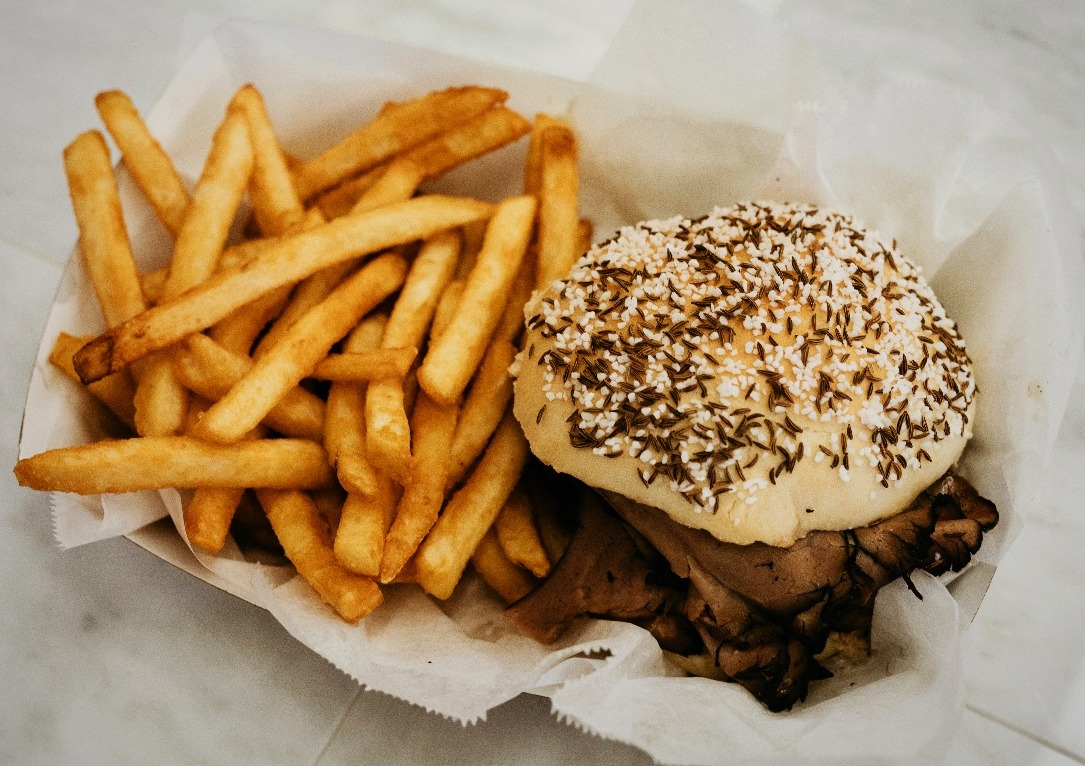Beef on Weck basket.