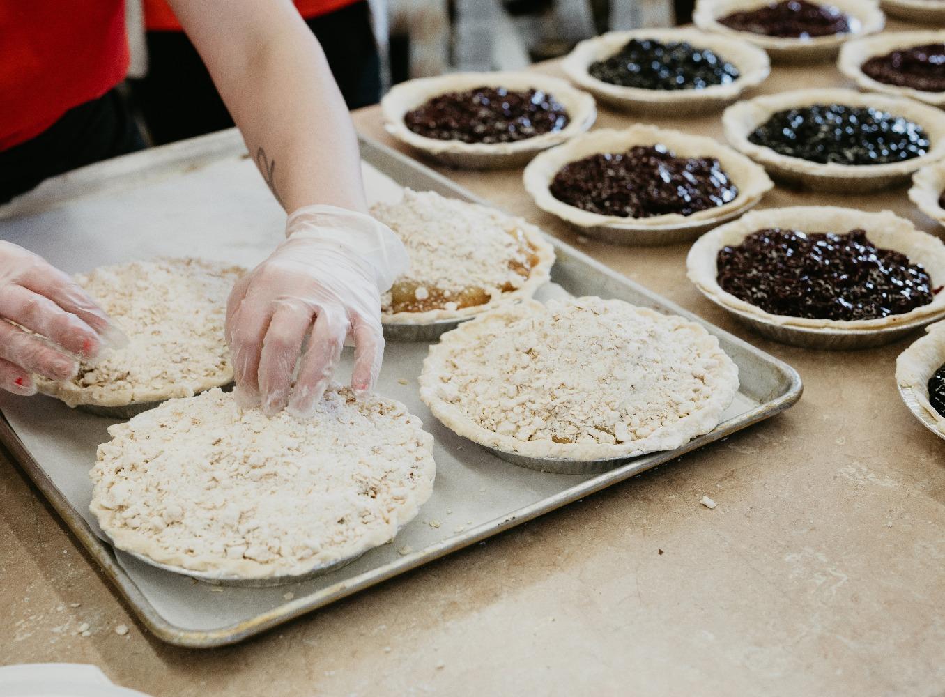Bumbleberry Crumb pies.