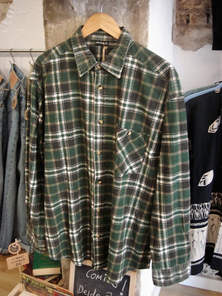 Camisa leñador. Verde