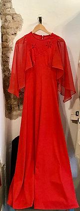 Vestido vintage de noche ROJO 70's