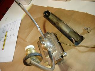 Restauración lámpara de mesa S.XX